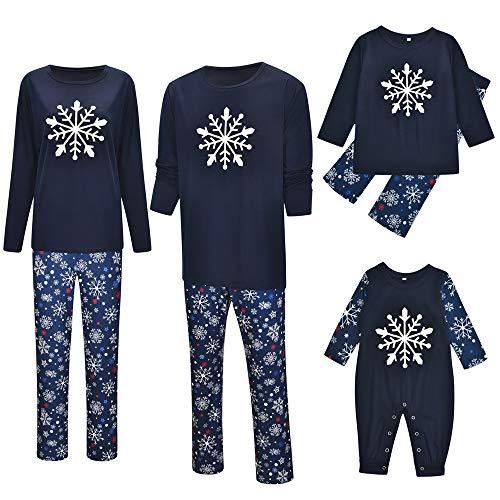TLLW Familia de Navidad Pijamas Familiar a juego de Navidad Pijamas Conjunto Top y Pantalones Largos Ropa de Dormir Ropa de Hogar a Juego de Navidad Pijamas de Navidad Pij