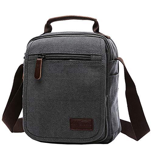 Mygreen Canvas Vintage Messenger Bag Small Travel School Crossbody Bag Shoulder Bag Work Bag
