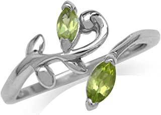 peridot leaf ring