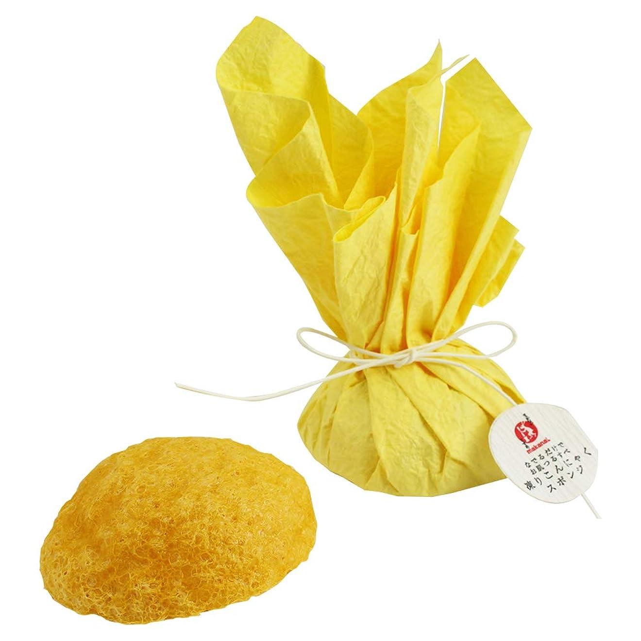 できる収束魚まかないこすめ 凍りこんにゃくスポンジ(柚子/黄色)