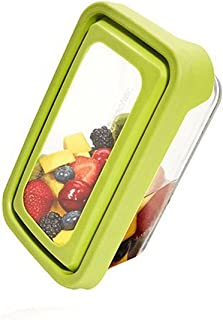Anchor Hocking 4 3/4-Cup Rectangular Food Storage Containers with Green TrueSeal Lids