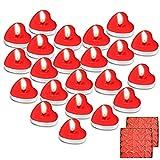 Maxee 100 Herzförmige Romantische Teelichter, Valentinstag, Geburtstag, Party, Vorschlag, Hochzeit, Party, Wohnkultur Atmosphäre Kerze (Rot)