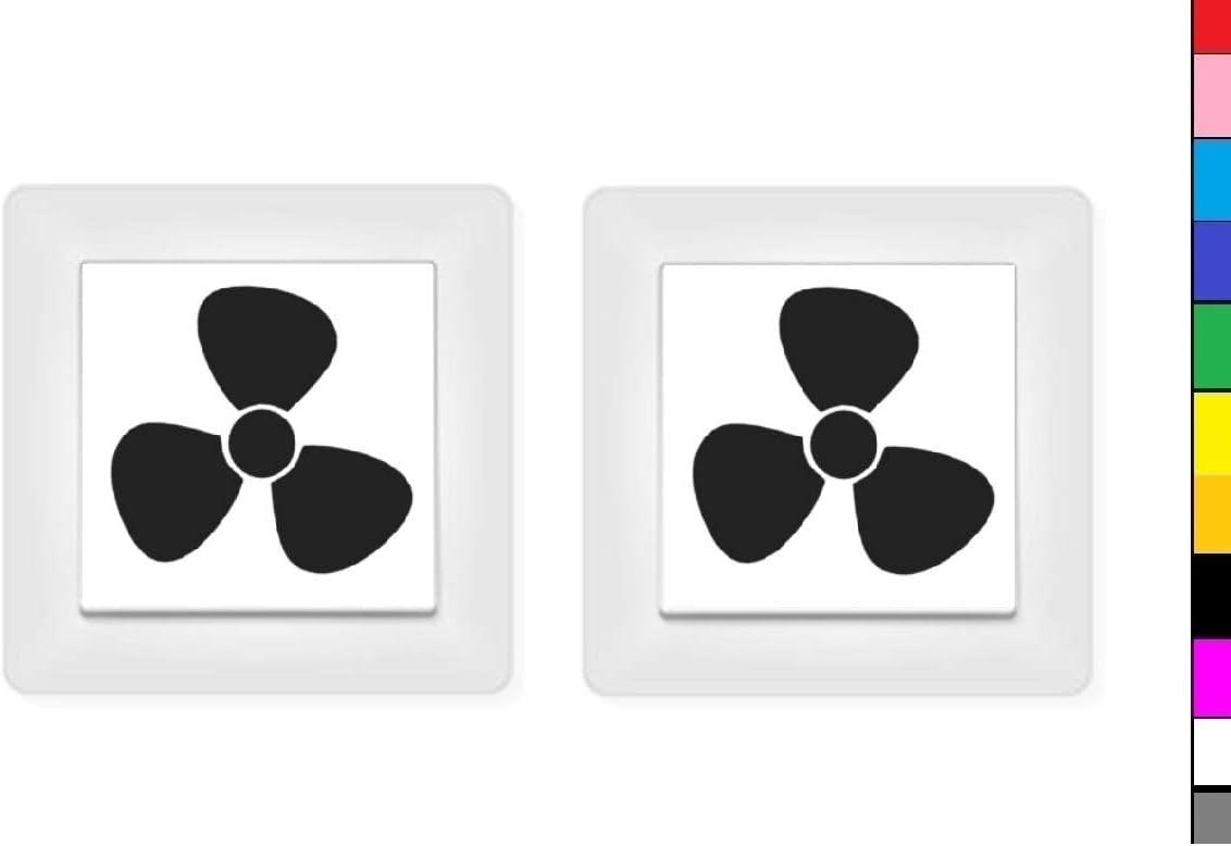 Generisch 2x Ventilator Klima Lüftung Aufkleber Schalteraufkleber Schalter 246 5 1 Weiß Glanz 3 7 X 3 8 Cm Auto