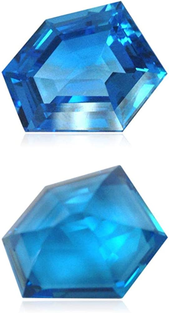 Instagem 21.00-22.95 Cts Max 59% OFF of 19x16 mm Topaz Blue Chicago Mall AAA Swiss Fancy