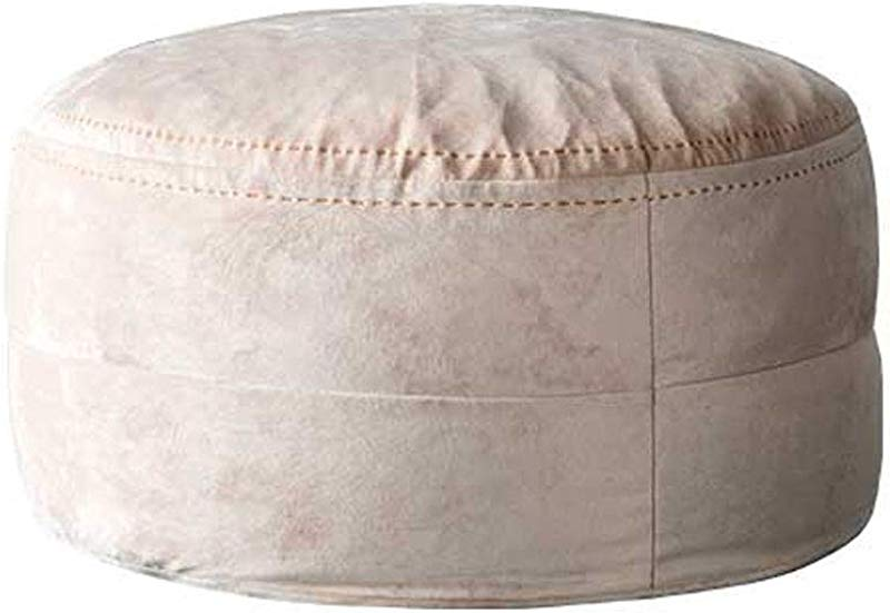 Creative Low Stool Home Fabric Lazy Couch Bean Bag Footstool Premium Velvet Fabric Comfortable Soft For Living Room Or Bedroom Max Load 100KG Light Pink 65cmx32cm