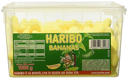 Haribo Barattolo di Caramelle Gommose al Gusto di Banana, 1000g