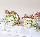 Caja de Dulces LLMMZD Cajas de Boda Regalo Caja de empaquetado de Chocolate y Chocolate Mini Bolso de Caramelo Tote Bautizo Decoración Favores de Fiesta
