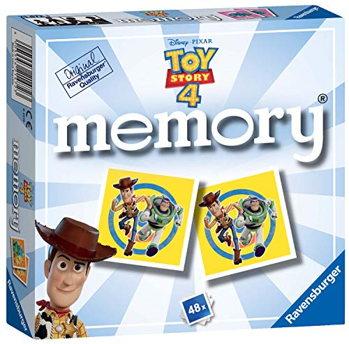 Ravensburger UK 21472 Ravensburger Disney Pixar Toy Story 4, Mini Memory Game, Multicoloured