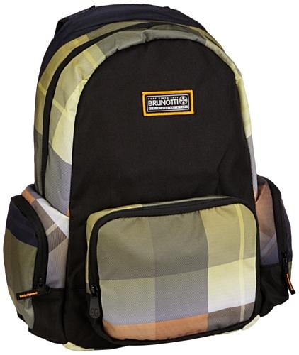Brunotti Damen Backpack Basic Rucksackhandtaschen, Mehrfarbig (Gradient Check Electric 001), 31x46x14 cm