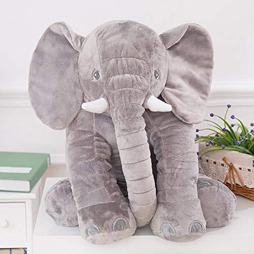 Bebé Niños Elefante Animal de Peluche Cama de Felpa Almohada para Dormir Cojín Juguete Regalo para niños Regalos con Forma de Elefante Lindo para Juguetes de cumpleaños para bebés