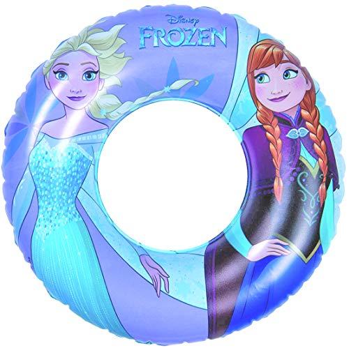 Disney Frozen Inflatable Swim Ring Aufblasbarer Schwimmring, Violett, Blau