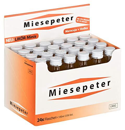 Miesepeter Likör Minis - IBO Scheißlaune-Weg 800 akut (Maracuja + Vodka, 24 x 20ml im Display)