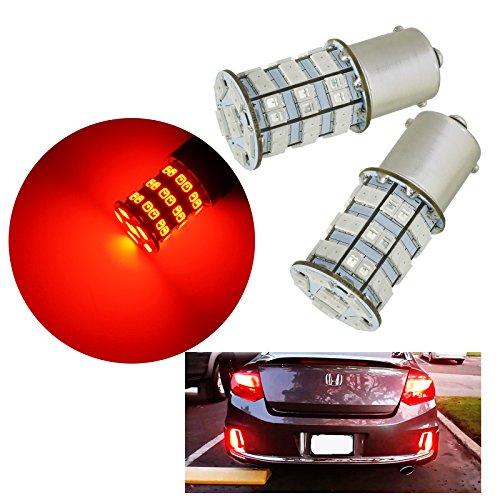 PA Lot de 2 ampoules LED haute puissance 55SMD 2835 + puce 5730 900 lm pour feux de recul (1156 Ba15s, rouge)