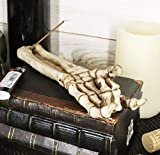 Ebros Gift Bone Chilling Skeleton Arm and Hand Incense Stick Holder Display Stand Figurine Scary Fantasy Halloween Decorations Wicca & Gothic Home Decor Aromatherapy Incense Burners