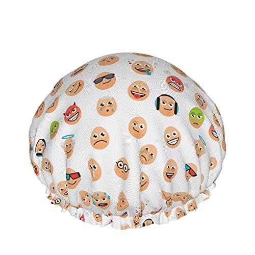 Divertido casquillo de ducha del modelo de los huevos de Pascua, casquillo de baño ajustable impermeable de las mujeres de la capa doble de Peva de moda
