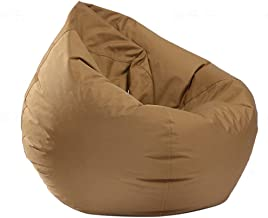 IRRIS Waterproof Bean Bag Chair Large Storage Bean Bag Oxford Chair Cover for Kids, Teens and Adults Lounger Sack Material: Cloth. Machine Washable Removable Slip Cover.(Coffee)