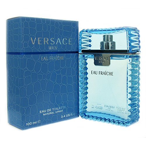Versace Man by Versace Eau Fraiche Eau De Toilette Spray (Blue) 3.4 oz / 100 ml (Men)
