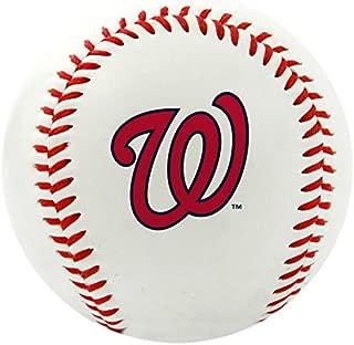 RAWLINGS MLB Nationals Team Logo Baseball, Official, White