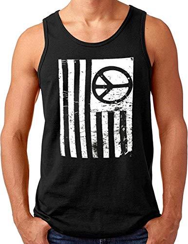 OM3® Peace Freedom USA Tank Top Shirt   Herren   Stars and Stripes Flag Freedom   Schwarz, XL