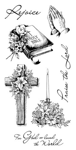 Inkadinkado Spiritual and Religious Clear Stamp Set, 7pc