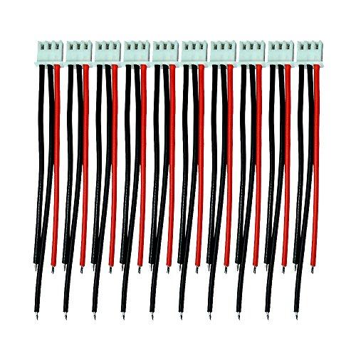 Boladge 1S-6S Batterie Balance Ladegerät Silikon Kabel Draht JST XH Stecker Adapter Stecker für RC Lipo Batterie (2S)