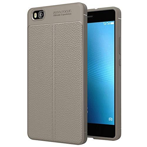 Bueno for Huawei P8 Lite Litchi Texture TPU Funda protectora (negra) Shiningxie (Color : Grey)