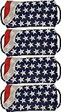 Patriotic USA American Flag Print Bandana Face Mask DIY Kit Set of 4 Blue