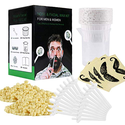 Nose Wax Kit, 50 g Wax, 20 Applicators. The Original & Best Nose Hair Removal Kit from hummdha .Nose Waxing for Men & Women