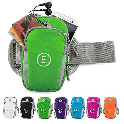 EchelonLine Premium Fitness Armband Handy Hülle Arm Jogging Tasche Rennen Workout Smartphone Laufen Sportarmband Schlüssel Halter für iPhone und Samsung