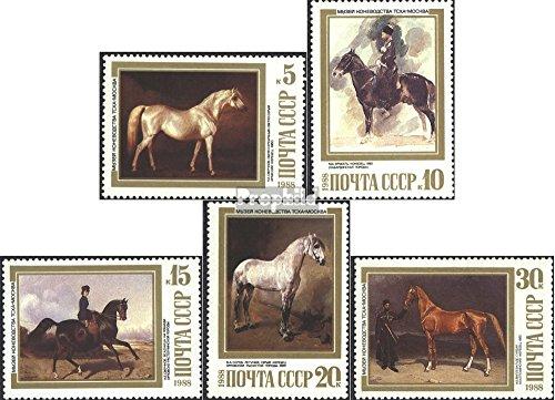 Prophila Collection Sowjetunion 5854-5858 (kompl.Ausg.) 1988 Pferdegemälde (Briefmarken für Sammler) Pferde