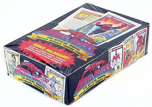 1990 Marvel Universe Series I Trading Card Box - 36 Packs 12 Cards per Pack by Impel image