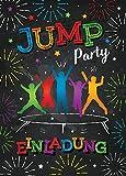 10 Einladungskarten zum Kindergeburtstag Jump Trampolin Mädchen Junge Einladungen Geburtstag