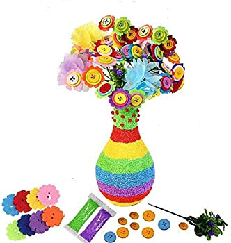 Hozzi DIY Fun Colorful Flower Craft Kit