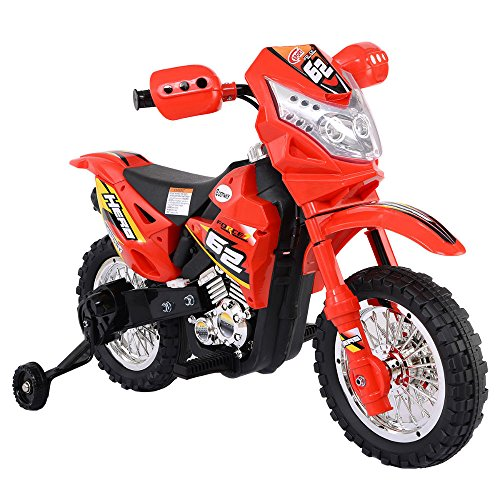 Fantastic Deal! Unbranded Kids Ride On Motorcycle with Training Wheel 6V Battery Powered Electric To...