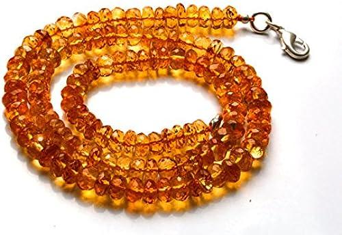 1 rang Natur 40,6cm Super Rare AAA Golden Citrin facettiert Rondelles Form Perlen Halskette Größe 6 s 7
