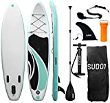 "Triclicks Inflatable SUP Stand Up Paddle Board Surfboard (6"" Thick) - with Paddle"