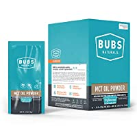 BUBS Naturals MCT Oil Powder Single Serving 14 Count Pack | Medium Chain Triglyceride Oil Powder | Keto Friendly | Whole30 Approved | Paleo Friendly | Healthy Fat | Low Carb