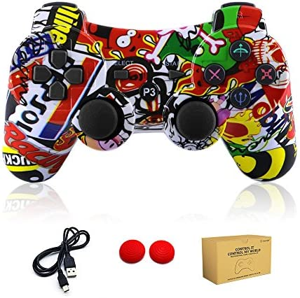 dainslef PS3 Controller Wireless Dualshock Remote Gamepad for Sony Playstation 3 Bluetooth PS3 product image