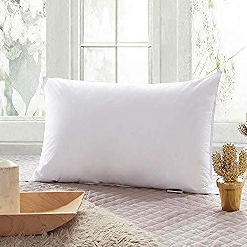 Cama para dormir profunda, almohada, calidad de hotel, cama de lujo, 100% algodón, funda hipoalergénica y resistente a los ácaros, lavable, tamaño estándar, color blanco, 45 x 70 cm
