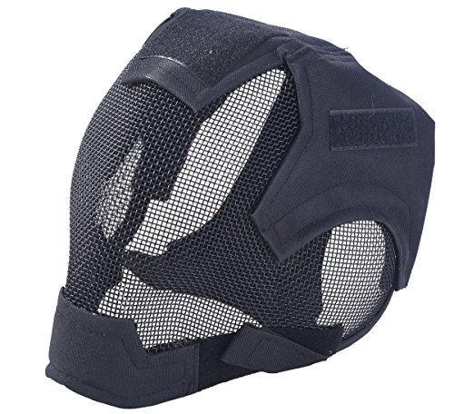 Outgeek Airsoft Mask Full Face Mask War Game Steel Mesh...