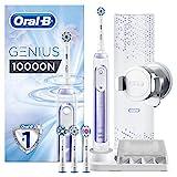 Oral-B Genius 10000N Sensi Ultrathin - Cepillo Eléctrico, 1 Orquídea Mango Conectado, 6 Modos Blanqueado, Sensible, Encías, 4 Cabezales, Funda de Viaje con Puerto USB