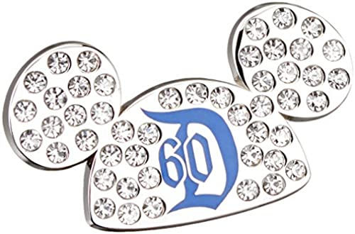 Disneyland 60th Anniversary Diamond Celebration Jeweled Mickey Ears Hat Trading Pin by Disney Official Pin Trading