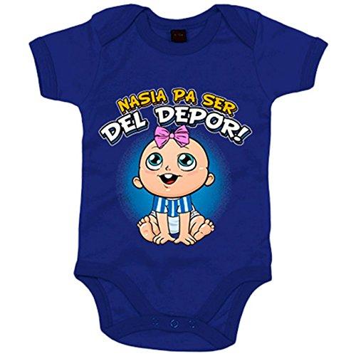 Body bebé nacida para ser del Depor Coruña fútbol - Azul Royal, 6-12 meses