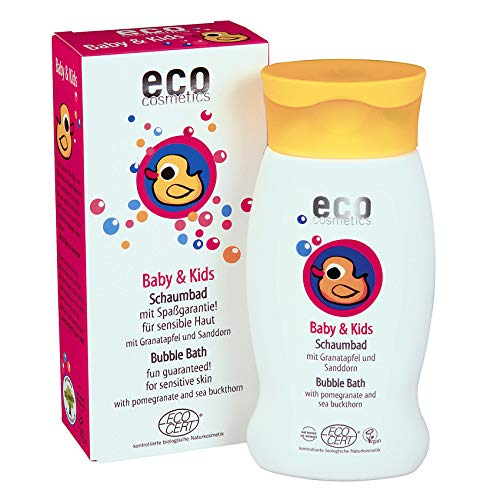 Eco Cosmetics Baby & Kids, Schaumbad, Bio-Badezusatz, Badeschaum, Naturkosmetik, vegan, 1x 200 ml