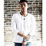 ラトルトラップ(RattleTrap) <リブ仕様>スパンフライスロングスリーブTシャツ【01ホワイト/M】