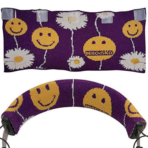 misodiko Sweater Knitting Headband Protector Cover Suitable for Most Over Ear Headphones - Beyerdynamic T1 DT240 T5P DT770 DT880 DT990 DT1770 DT1990 Pro Amiron MMX300 Custom (Purple)