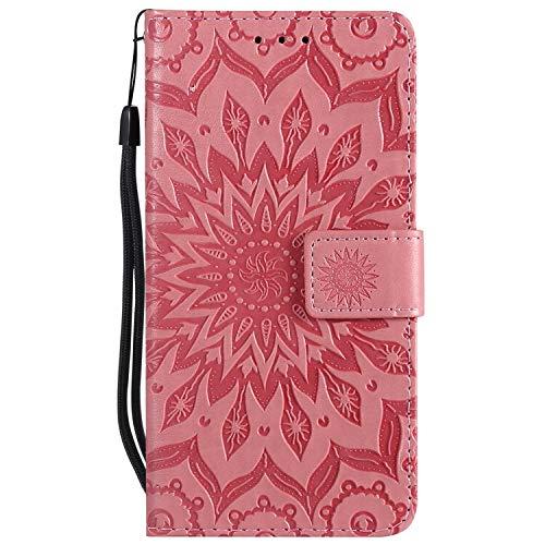 XYAL0002001 Xingyue Aile Covers y Fundas para Samsung Galaxy J5 J7, Cuero PU + Monedero Funda para teléfono para Samsung Galaxy J7 J5 2017 (Color : Rose, Material : For J5 2017 J530 EU)