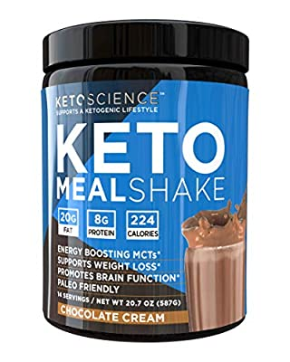 Keto Science Ketogenic Meal Shake Chocolate Dietary Supplement