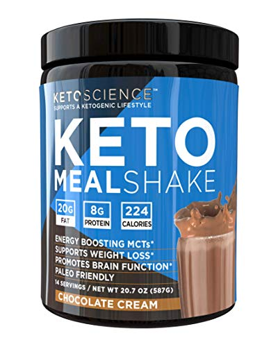 Keto Science Ketogenic Meal Shake Chocolate Dietary Supplement, Rich in MCTs and Protein, Keto and Paleo Friendly, Weight Loss, (14 servings), 20.7 oz Packaging May Vary 1