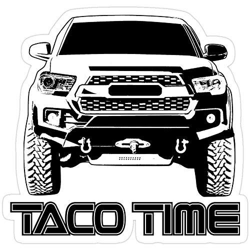 DKISEE 3 Stück Aufkleber Taco Time Tacoma 3. Generation, Taco-Time-Aufkleber für Laptop, Handy, Autos, lustige Aufkleber für Laptops, Gitarre, Kühlschrank 10,2 cm